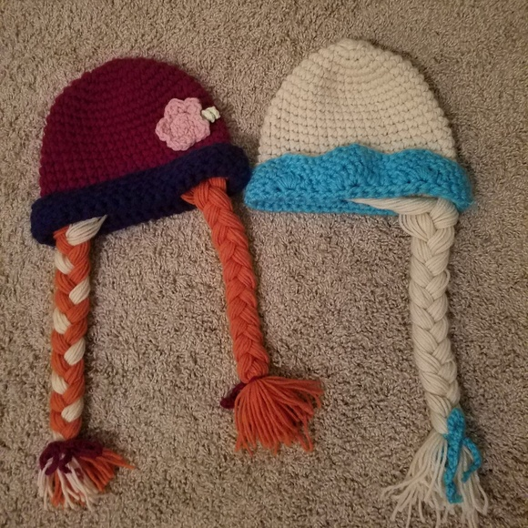 Accessories Set Of 2 Frozen Inspired Elsa And Anna Hats Poshmark